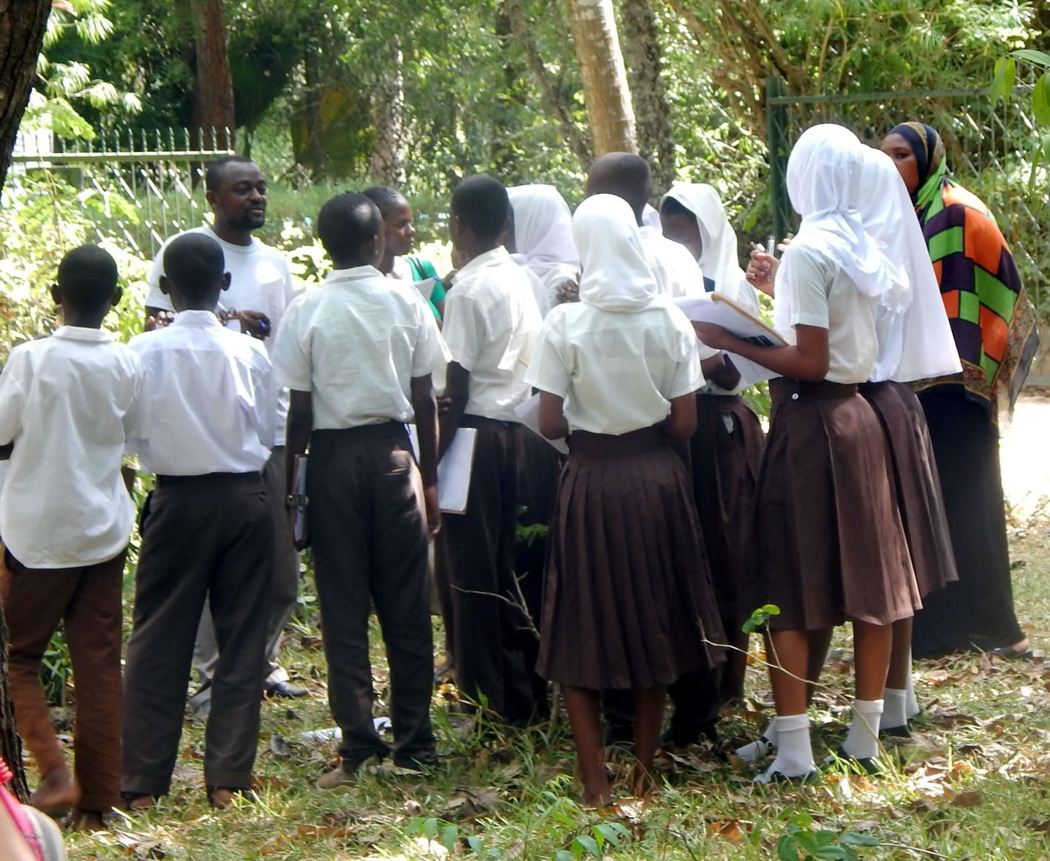 Students on a Conservation Education Session at the Colobus Conservation Centre