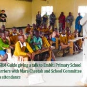 Jonathan - SRM guide giving a Talk at Embiti Primary School