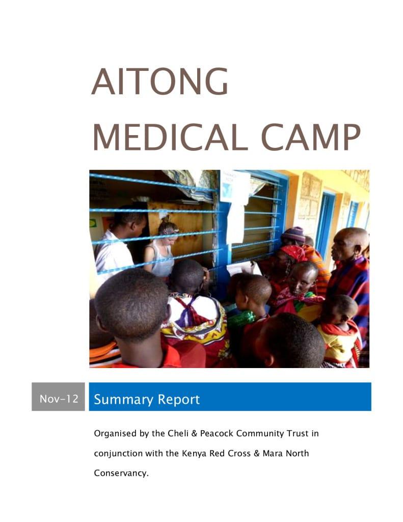 thumbnail of 1st Aitong Medical Camp Report