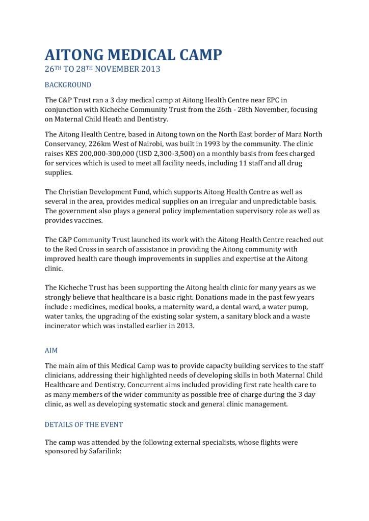 thumbnail of 2nd Aitong Medical Camp Report