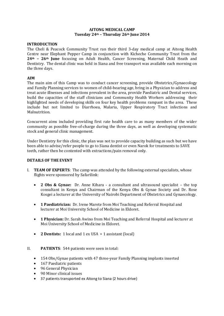 thumbnail of 3rd Aitong Medical Camp Report